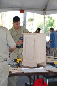 California High School Cabinetmaking State Gold Medalist, Saul Vazquez from Fontana High School